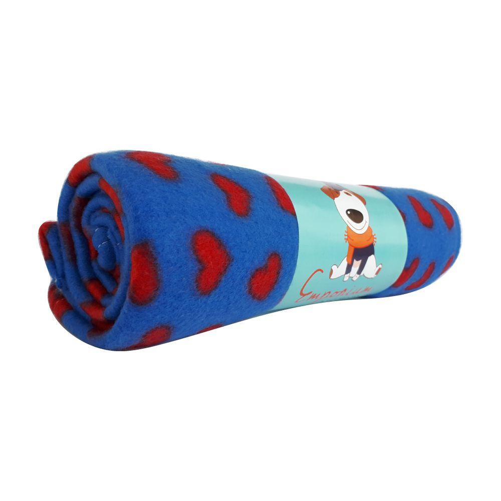 Cobertor Soft Emporium Distripet Corações  - Focinharia