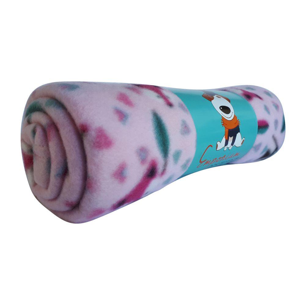 Cobertor Soft para Cães e Gatos Emporium Distripet Fox Rosa  - Focinharia
