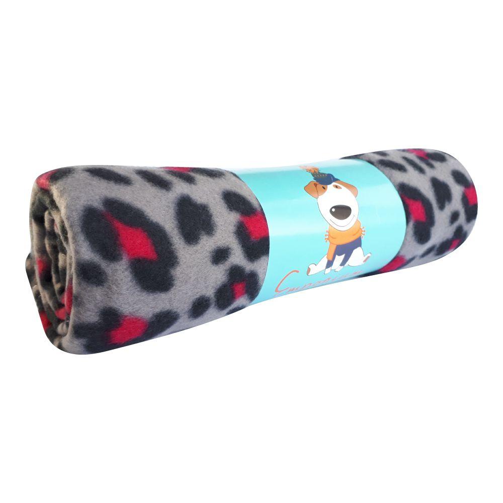 Cobertor Soft para Cães e Gatos Emporium Distripet Oncinha Cinza  - Focinharia