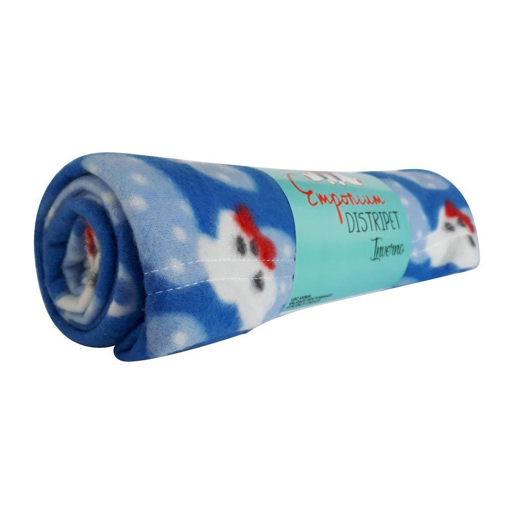 Cobertor Soft Emporium Distripet Ursinho Azul  - Focinharia