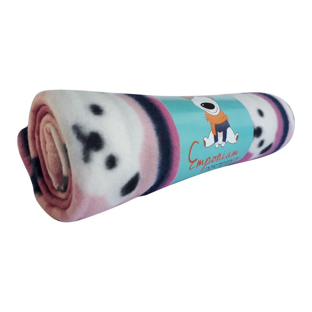Cobertor Soft Emporium Distripet Ursinho Rosa  - Focinharia