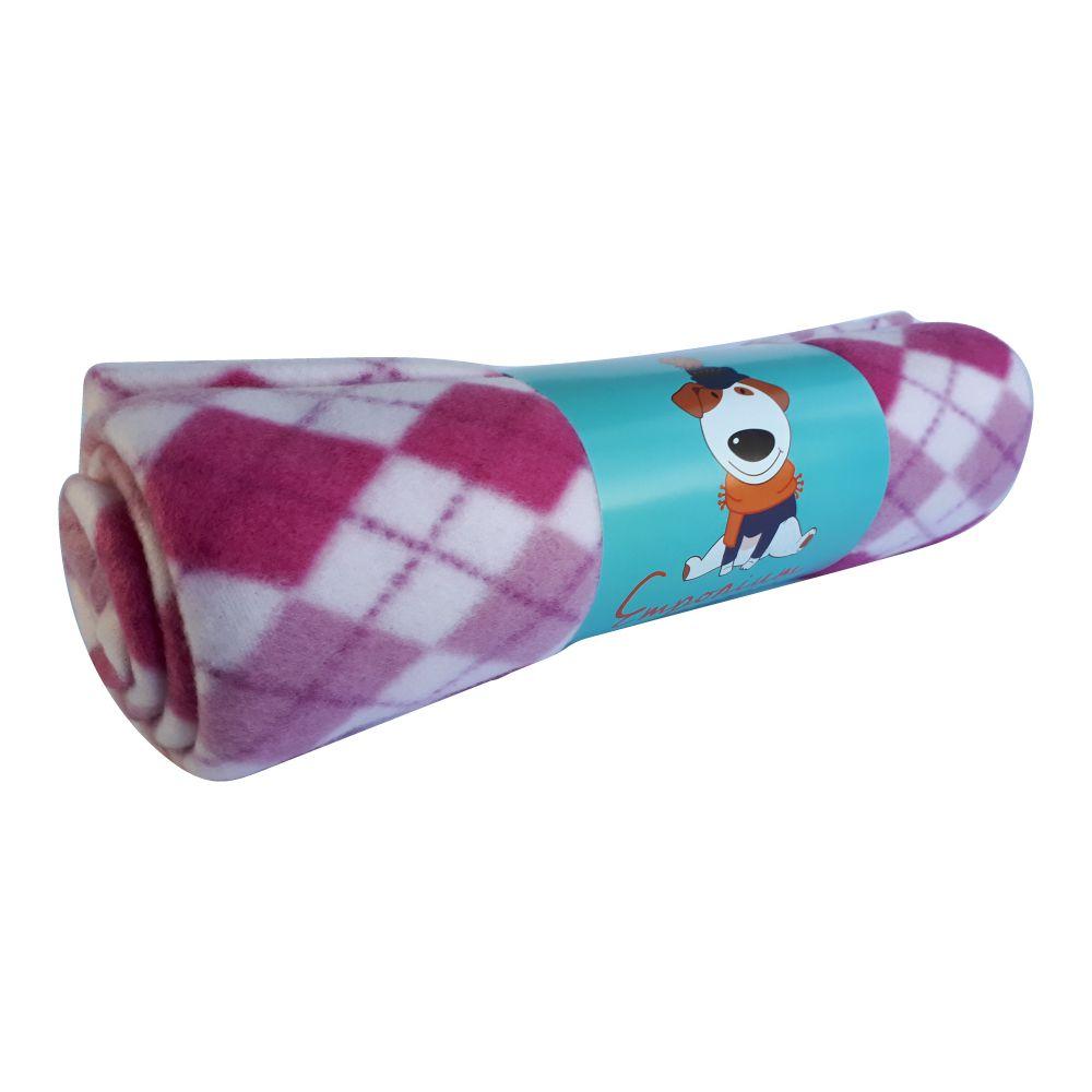 Cobertor Soft Emporium Distripet Xadrez Rosa  - Focinharia