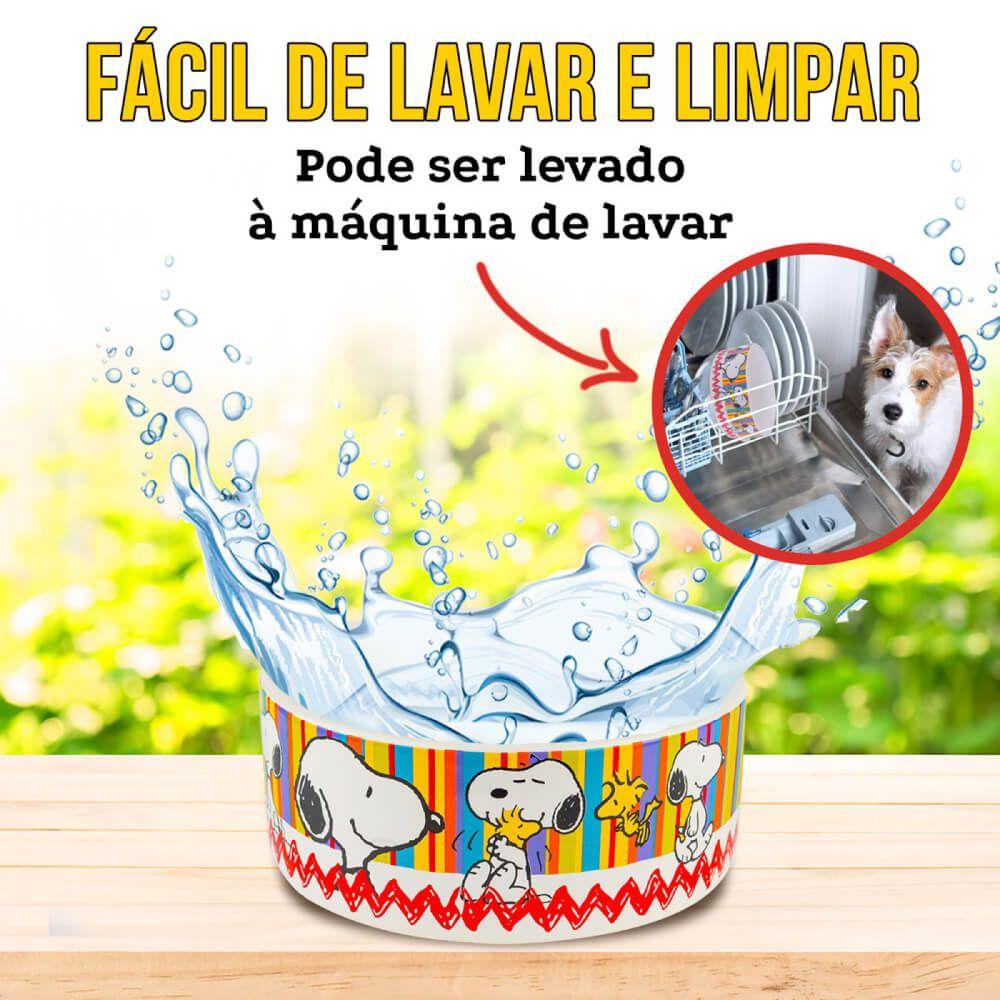Comedouro de Cerâmica Zooz Pets Snoopy II 500 mL  - Focinharia