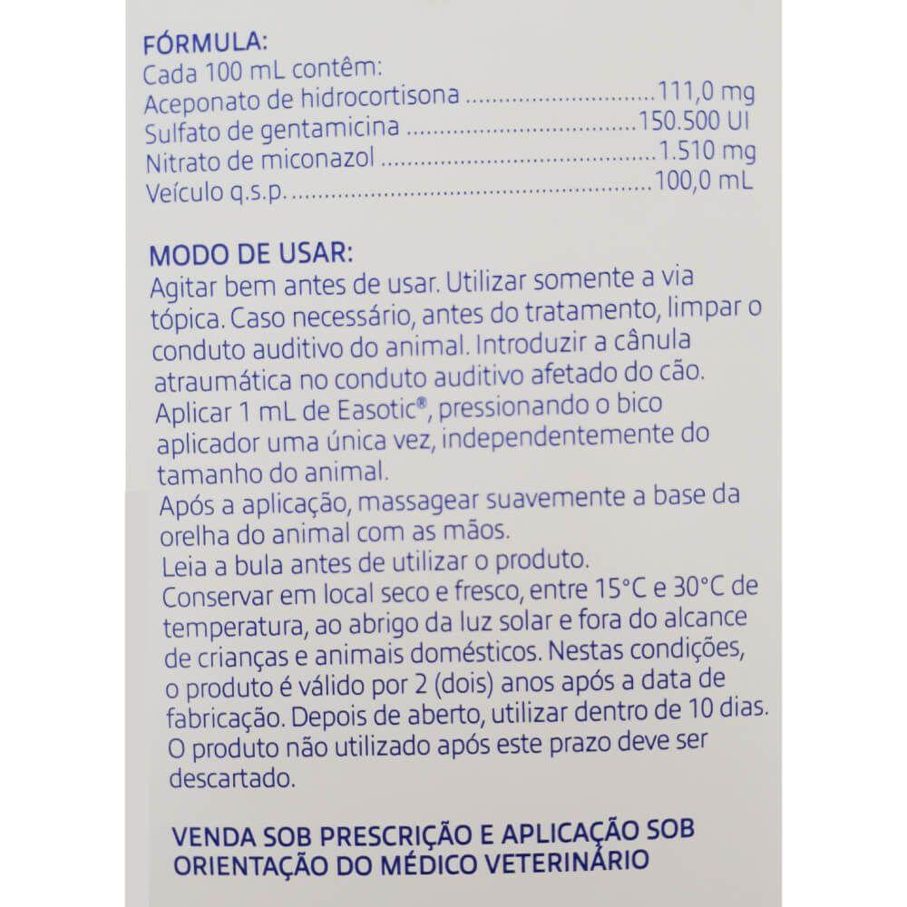 Suspensão Otológica Easotic Virbac para Cães 10 mL  - Focinharia