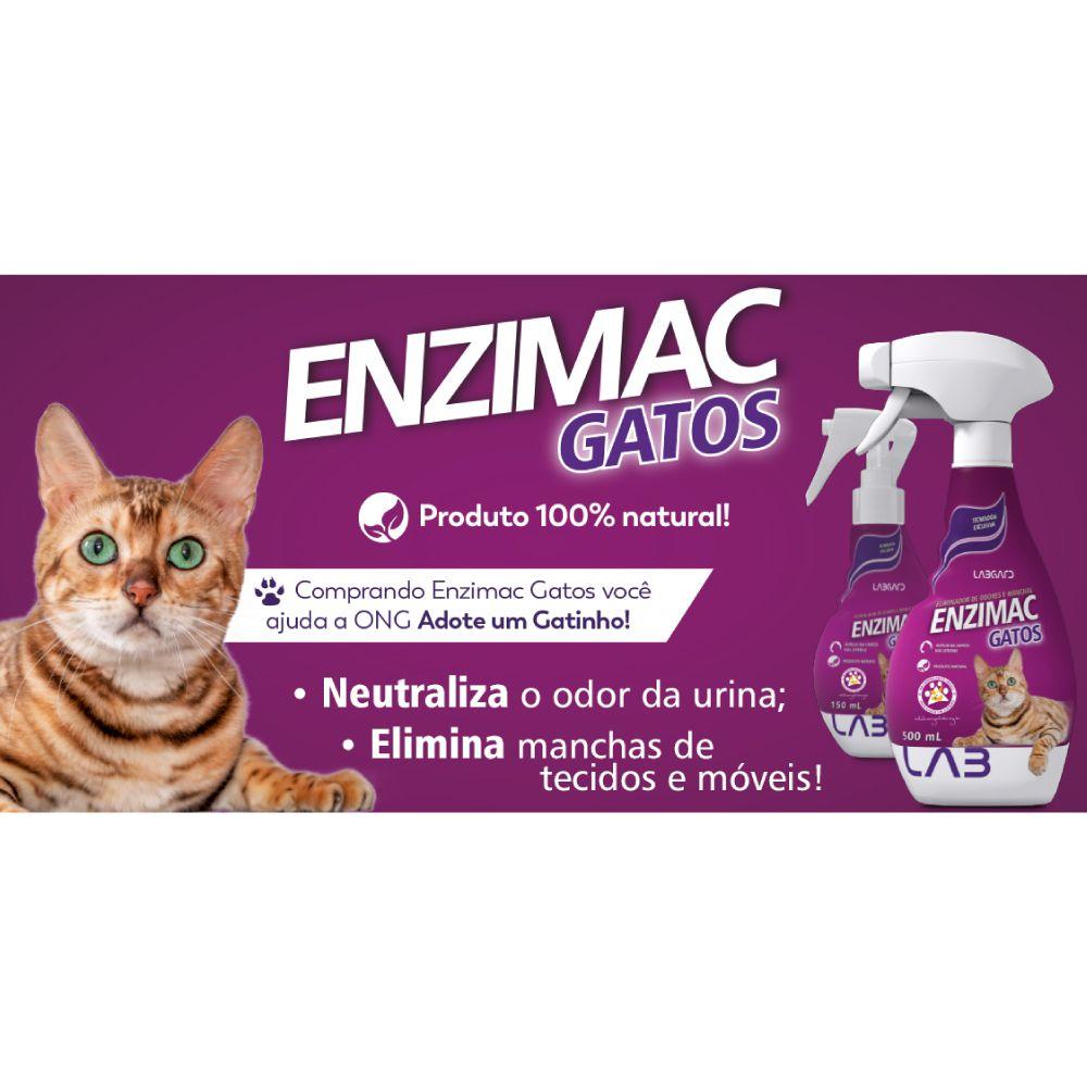 Eliminador de Odores Enzimac Gatos 500 mL  - Focinharia