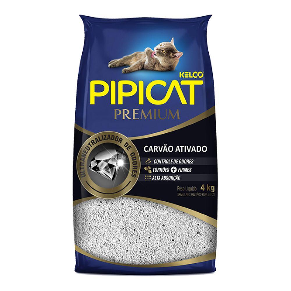 Granulado Sanitário Pipicat Premium Carvão Ativado 4 Kg  - Focinharia