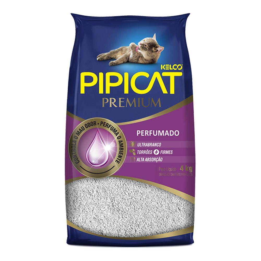 Granulado Sanitário Pipicat Premium Perfumado 4 Kg  - Focinharia