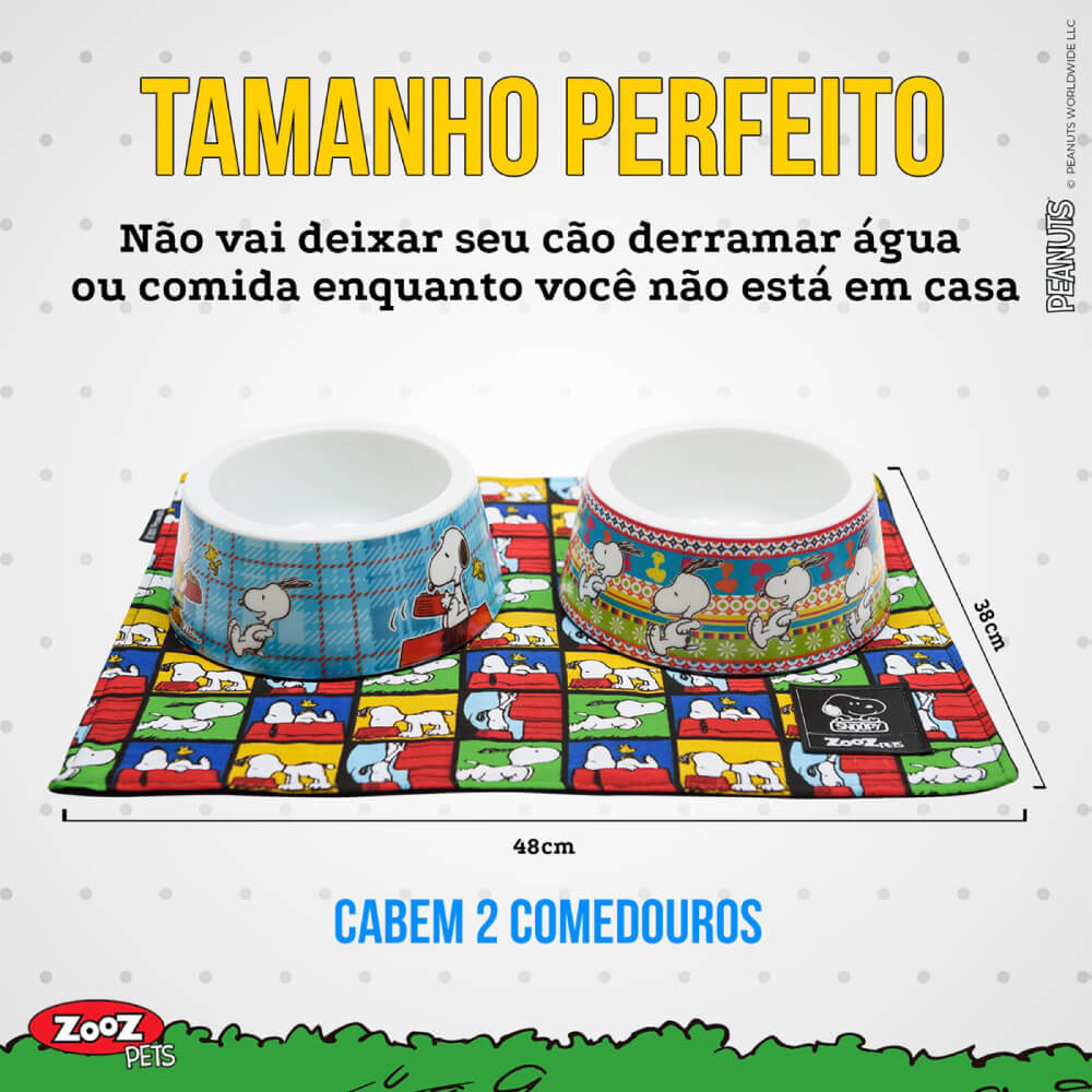 Jogo Americano Zooz Pets Snoopy Quadrinho  - Focinharia