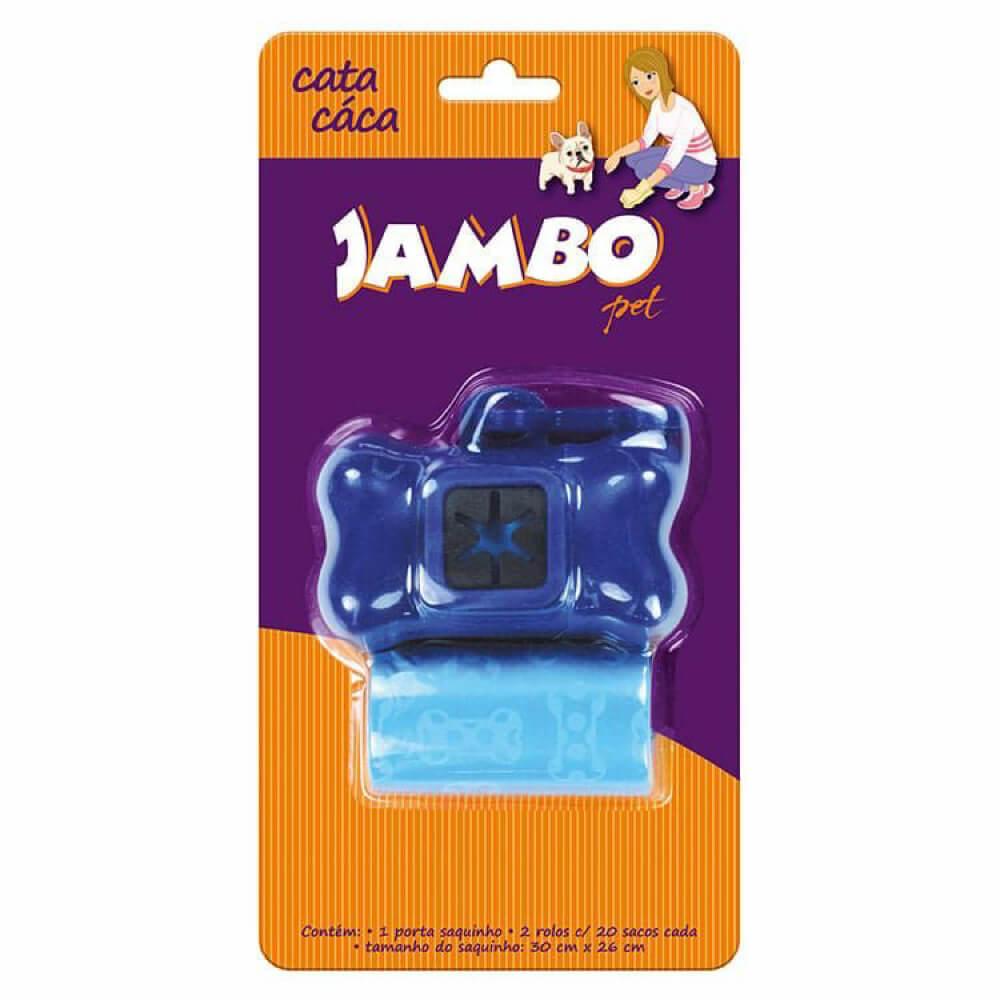 Kit Porta Cata Caca Jambo Basic com 2 Rolos - Azul  - Focinharia