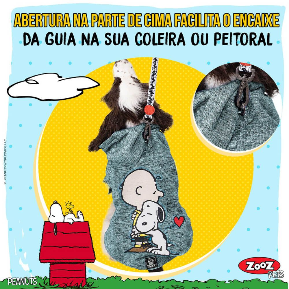 Moletom Zooz Pets Charlie Snoopy Hug Jade  - Focinharia