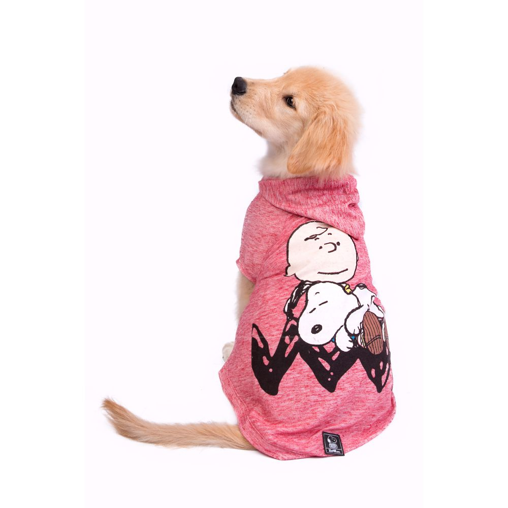 Moletom Zooz Pets Charlie Snoopy Sleeping Vermelho  - Focinharia