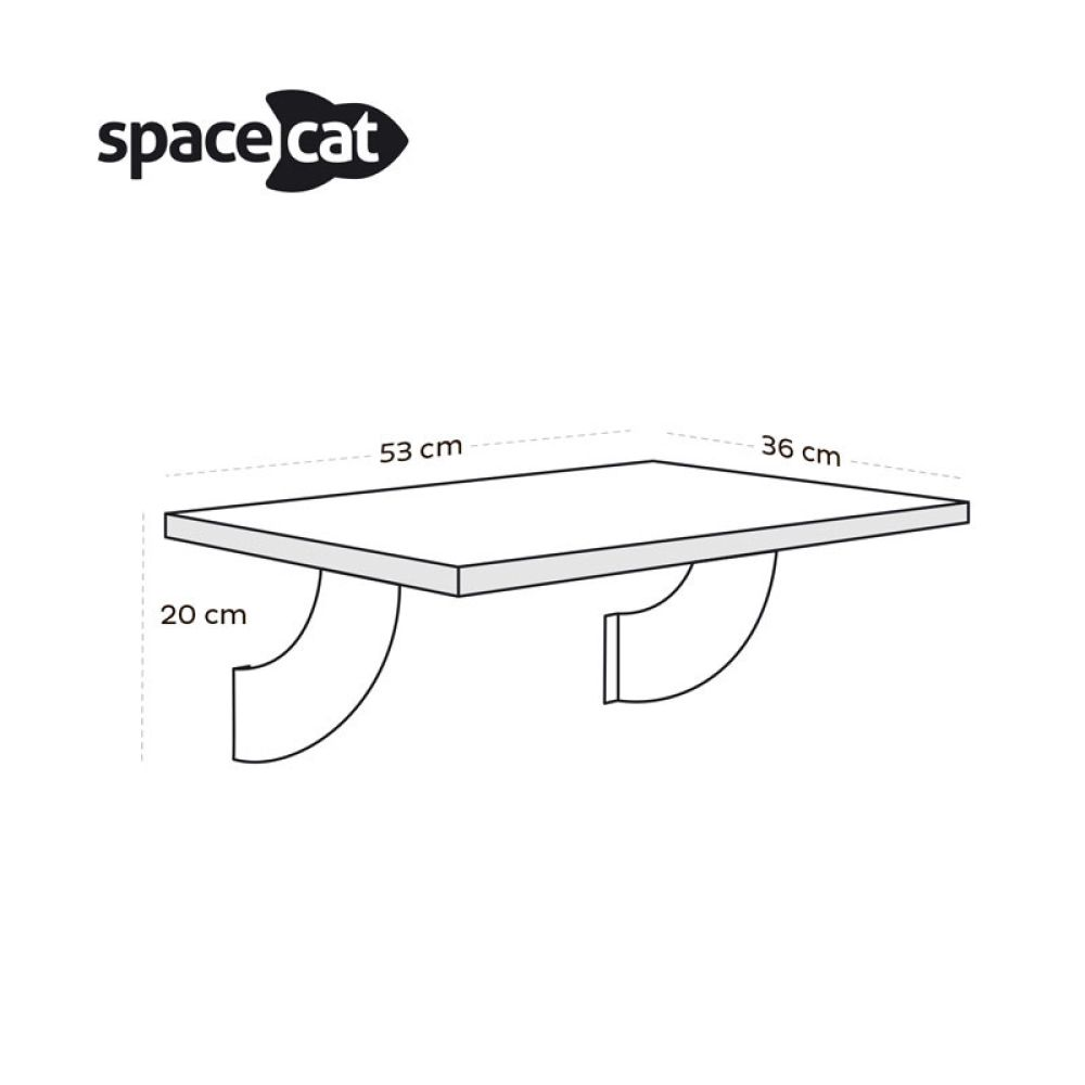 Prateleira de Janela Gatton SpaceCat Lunar  - Focinharia