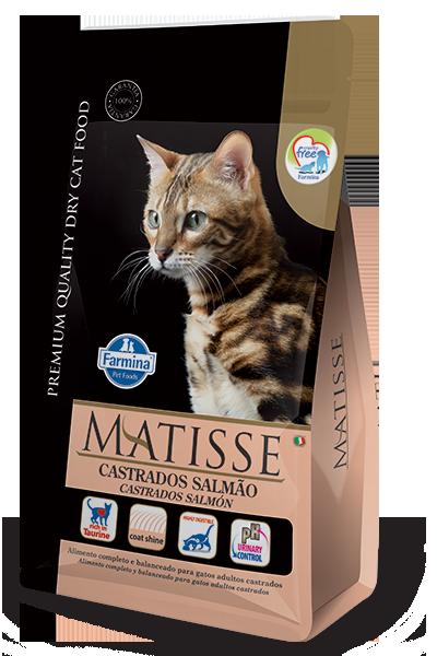 Ração Farmina Matisse Cordeiro para Gatos Adultos Castrados - 7,5 Kg  - Focinharia