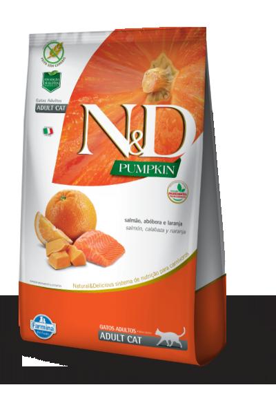 Ração Farmina N&D Pumpkin Salmão e Laranja para Gatos Adultos  - Focinharia