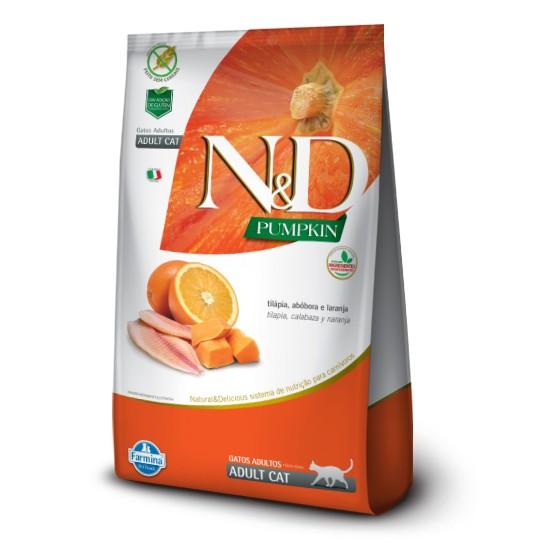 Ração Farmina N&D Pumpkin Tilápia e Laranja para Gatos Adultos  - Focinharia
