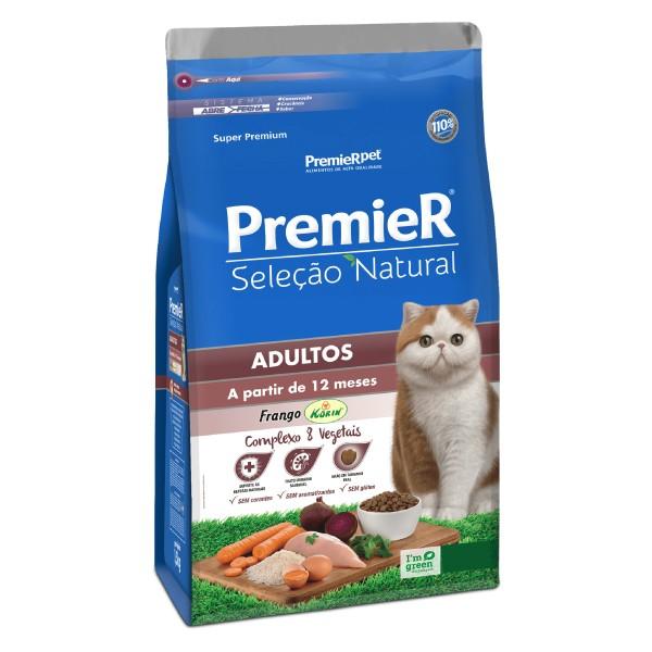 Ração Premier Seleção Natural para Gatos Adultos  - Focinharia