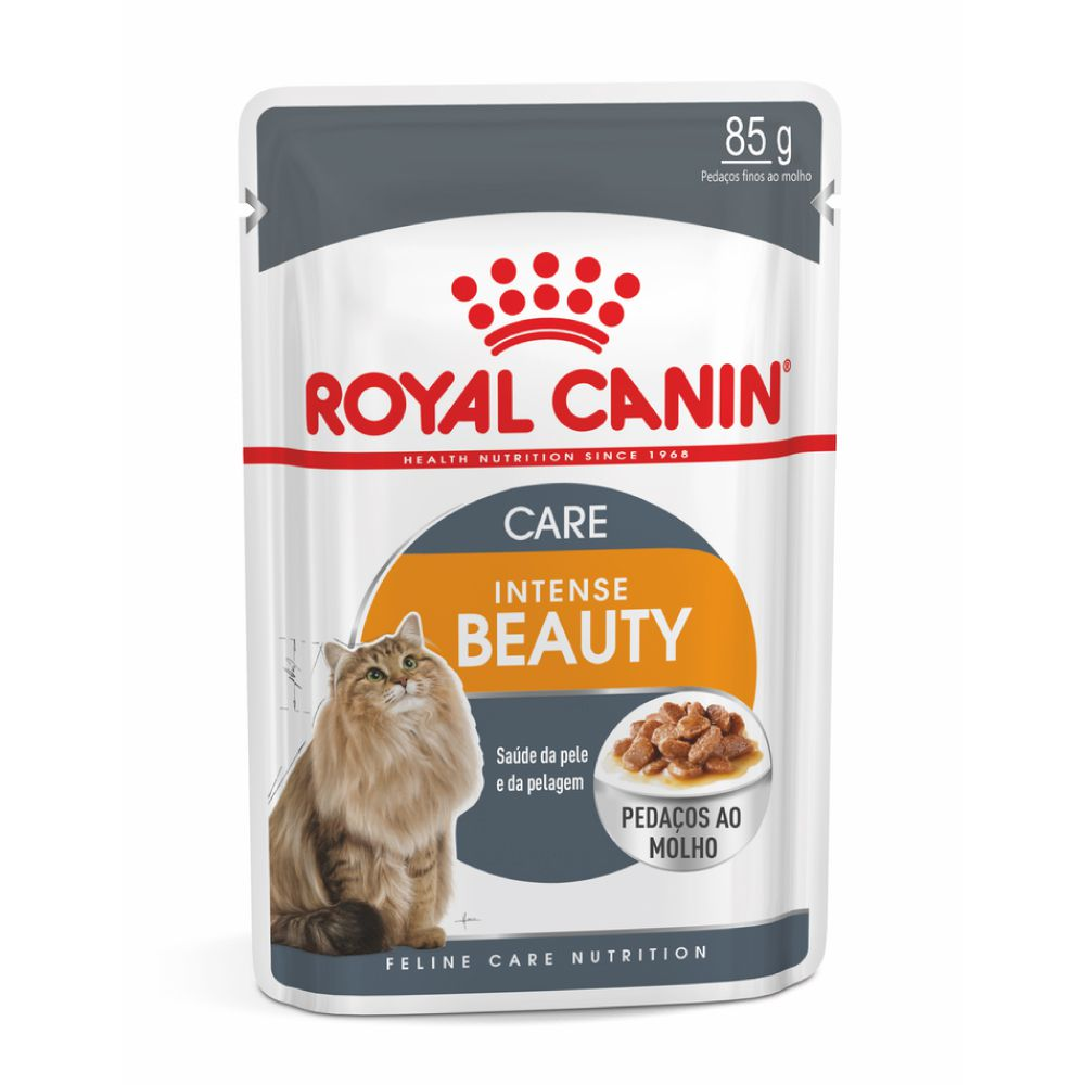 Ração Royal Canin Sachê Intense Beauty para Gatos Adultos  - Focinharia