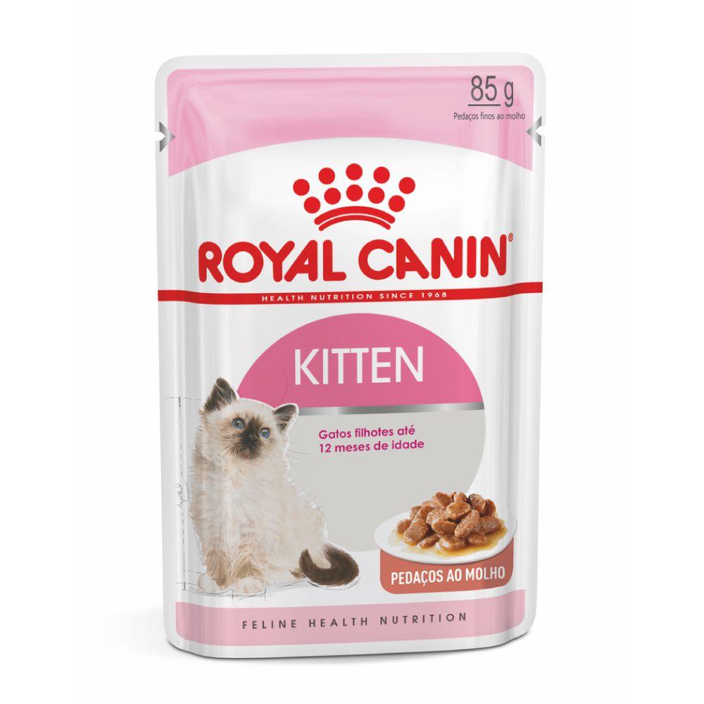 Ração Royal Canin Sachê Kitten para Gatos Filhotes  - Focinharia