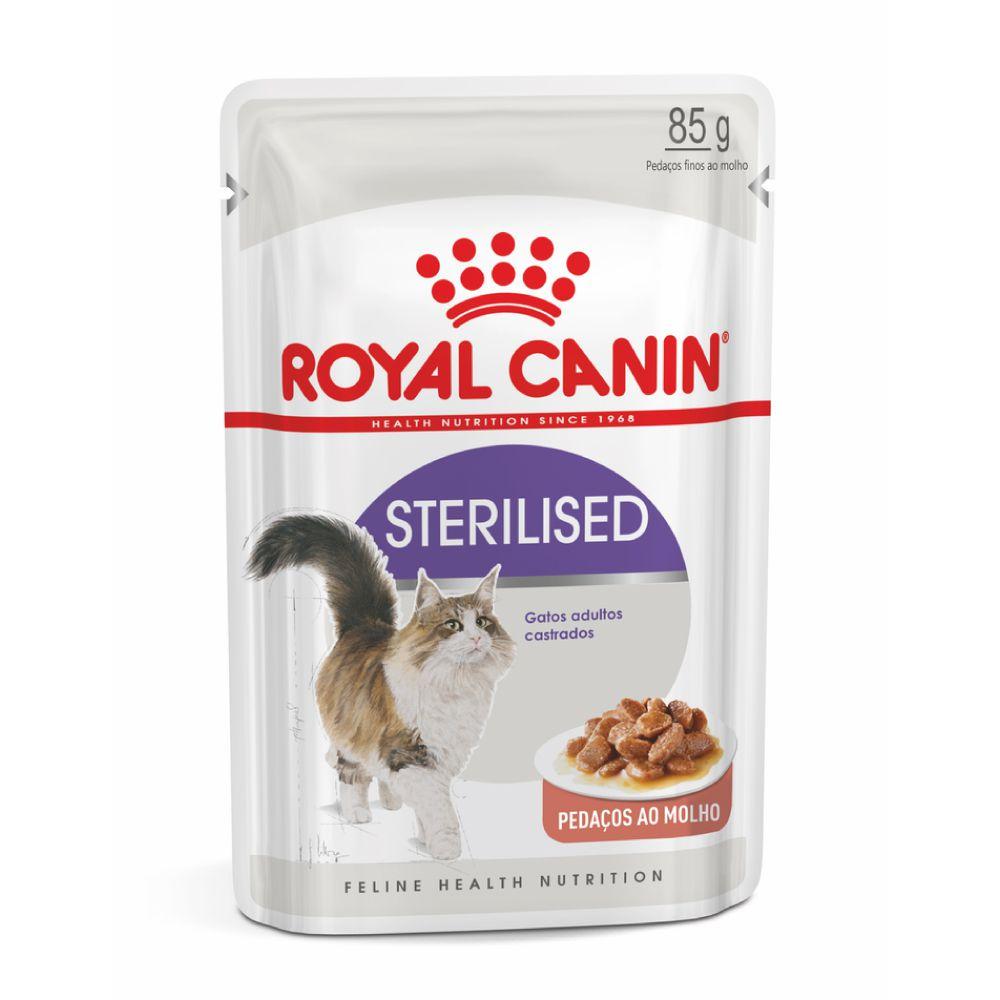 Ração Royal Canin Sachê Sterilised Gatos Adultos Castrados  - Focinharia