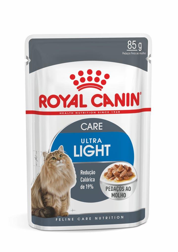 Ração Royal Canin Sachê Ultra Light para Gatos Adultos  - Focinharia