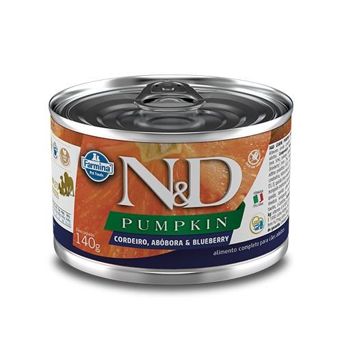 Ração Úmida Farmina N&D Pumpkin Cordeiro e Blueberry para Cães Adultos 140 g  - Focinharia