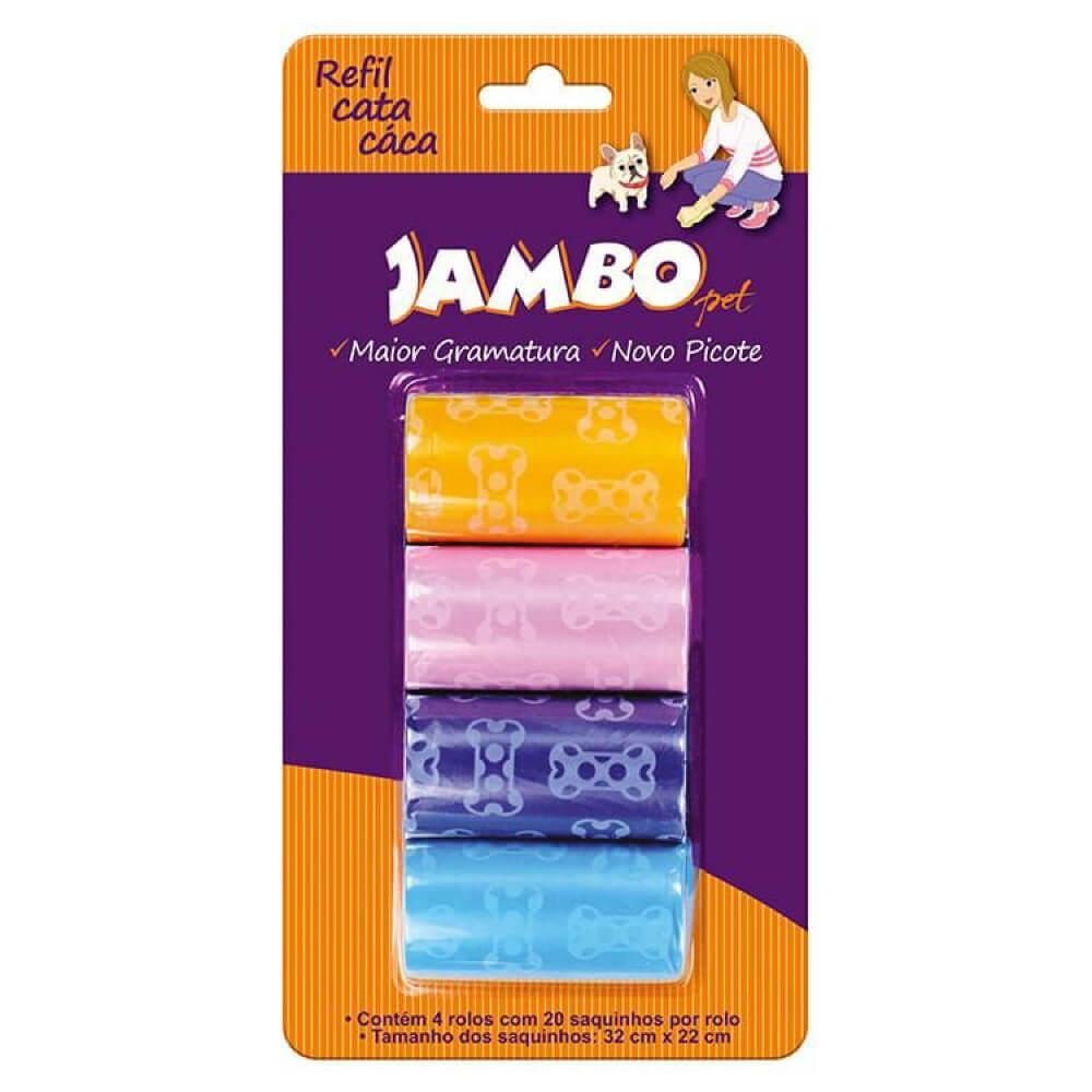 Refil Cata Caca Jambo Basic com 4 Rolos  - Focinharia