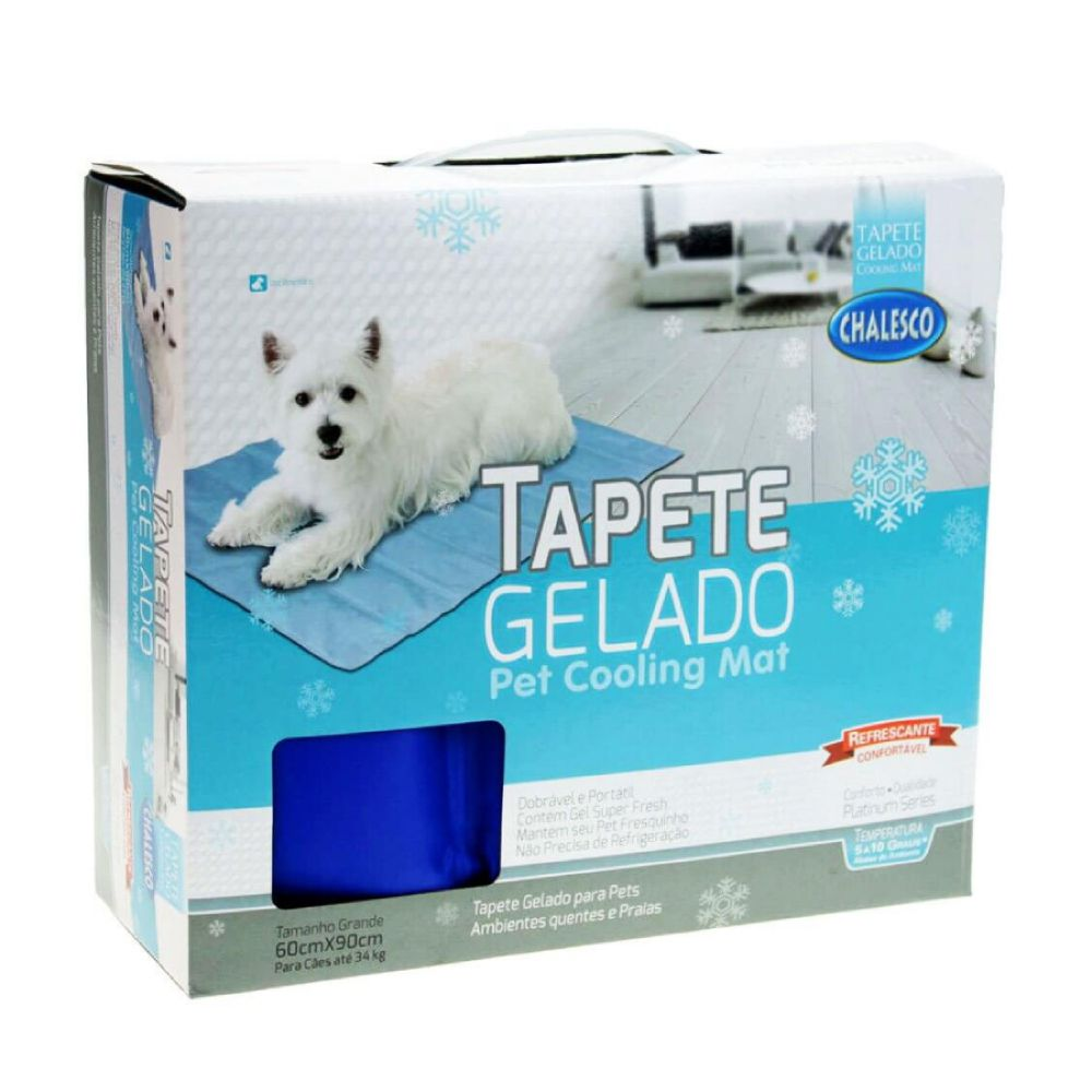 Tapete Gelado Chalesco Pet Cooling Mat  - Focinharia