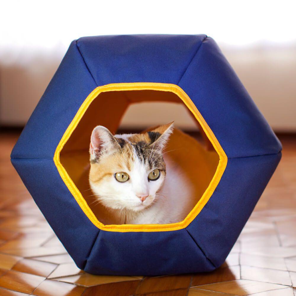 Toca para Gatos Gatton Mundi Azul  - Focinharia