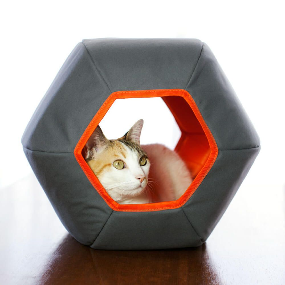 Toca para Gatos Gatton Mundi Cinza  - Focinharia