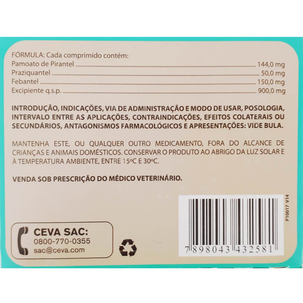 Vermífugo para Cães Ceva Canex Plus 3 com 4 Comprimidos  - Focinharia