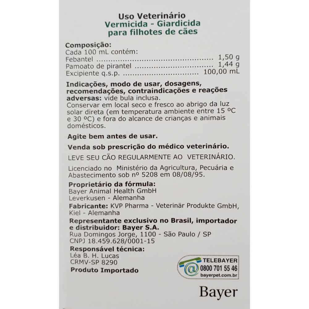 Vermífugo Bayer Drontal Puppy Suspensão para Cães Filhotes  - Focinharia