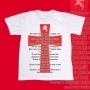 Camiseta Adulto -  São Jorge - Oração e Cruz vermelha