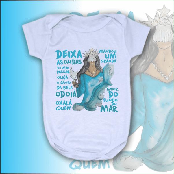 Body Infantil - Iemanja Aquarela com ponto