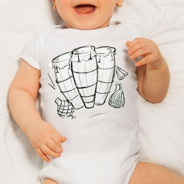 Body Infantil - Atabaques - Body Infantil - GG