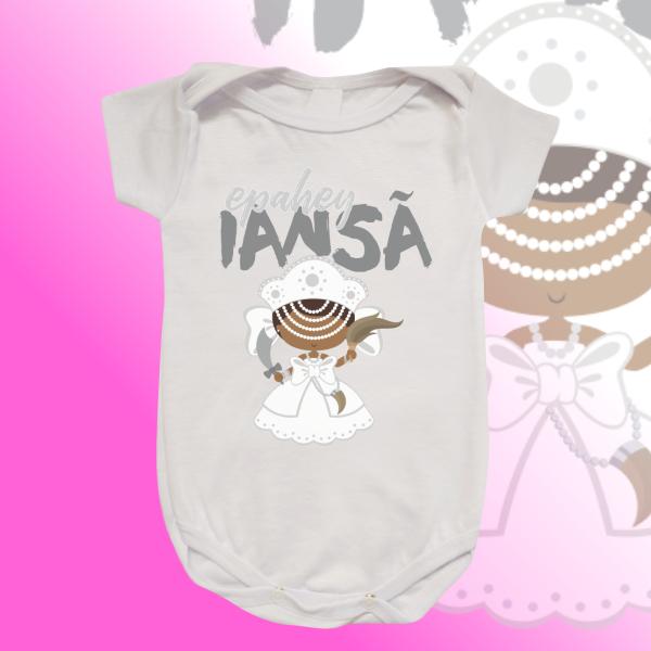 Body Infantil - Iansã baby branca com franja