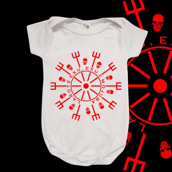 Body Infantil - Mandala vermelha Laroye Exu