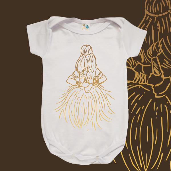 Body Infantil - Obaluaiê traços dourados