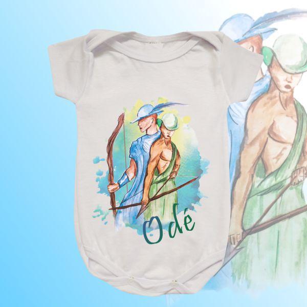 Body Infantil - Odé aquarela com mancha