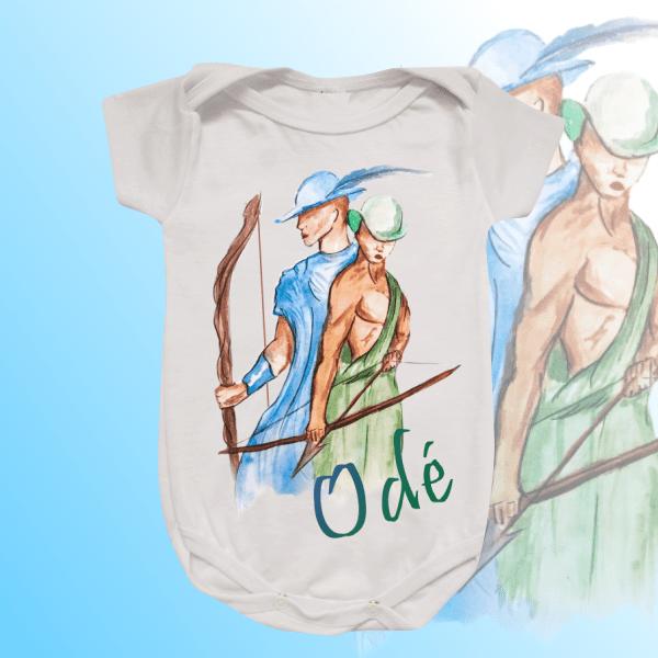 Body Infantil - Odé aquarela sem mancha