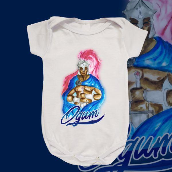 Body Infantil - Ogum aquarela azul