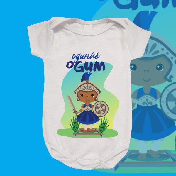 Body Infantil - Ogum baby azul