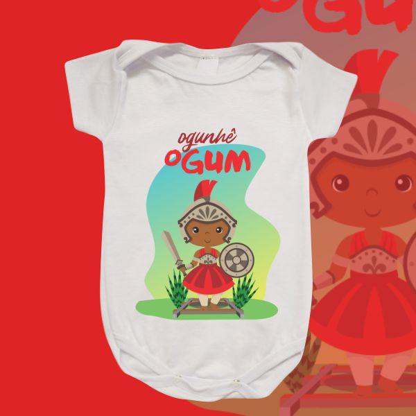 Body Infantil - Ogum baby vermelho