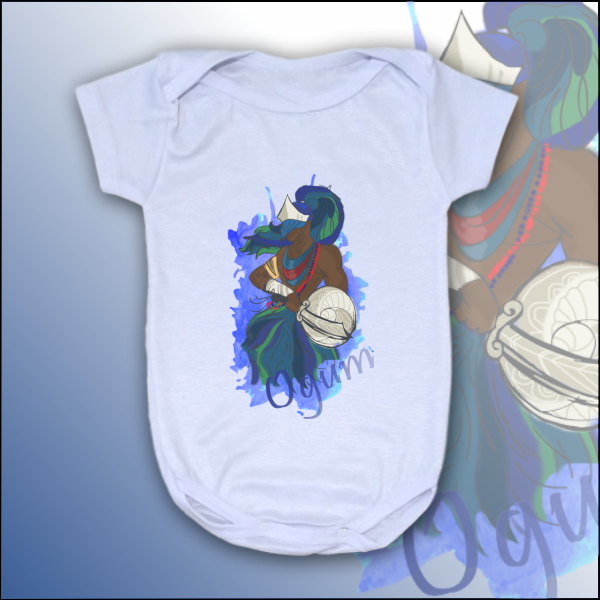 Body Infantil - Ogum colorido com mancha