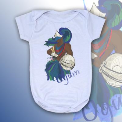 Body Infantil - Ogum colorido sem mancha