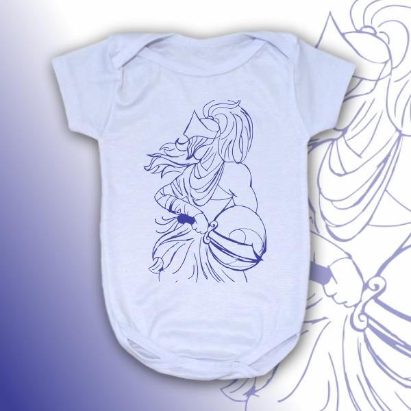 Body Infantil - Ogum vetorizado azul