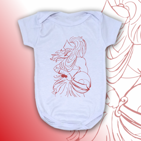 Body Infantil - Ogum vetorizado vermelho