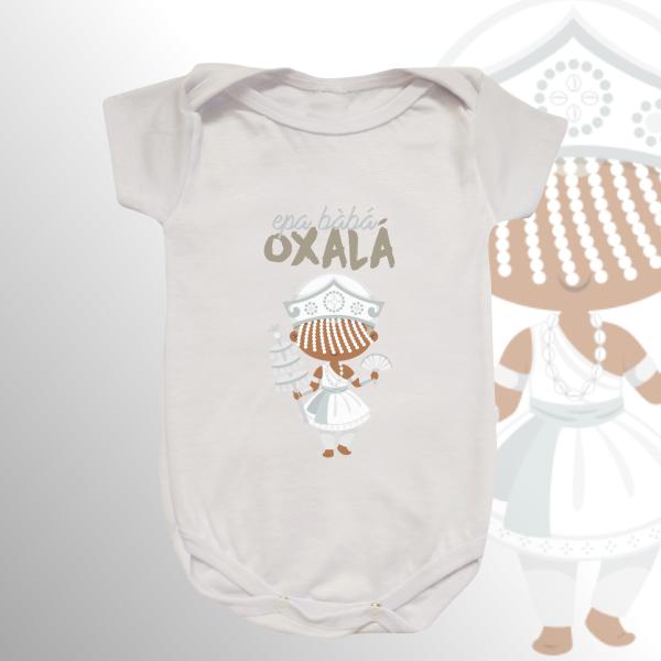 Body Infantil - Oxalá Baby com franja