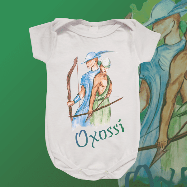 Body Infantil - Oxóssi aquarela sem mancha