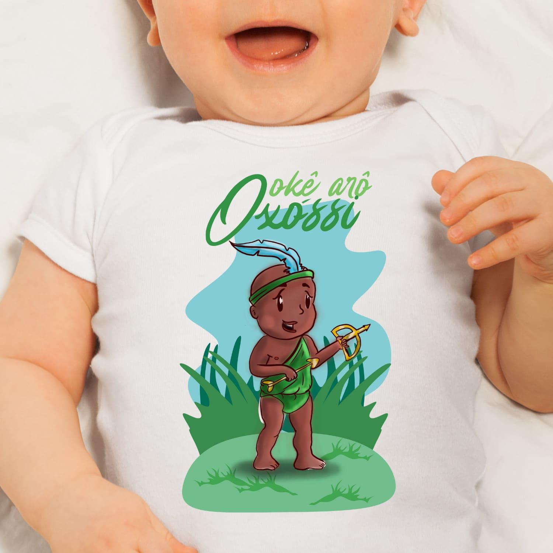 Body Infantil - Oxossi Baby com cenário