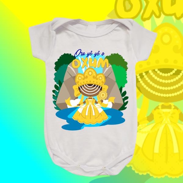 Body Infantil - Oxum com Cachoeira